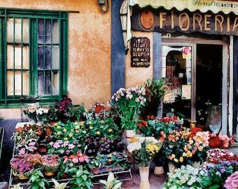 Flower Shop, Monreale Sicily, Fioreria Shop Print , Flowers Sicily, Colorful Fioreria Wall Decor, Fine Art Photograph, Art Print