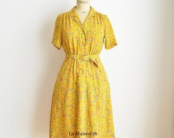 Japan Vintage  Sommerdress from 50-60s