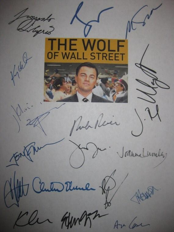 The Wolf of Wall Street Signed Film Movie Script Screenplay X18 Autograph Leonardo DiCaprio Margot Robbie Jonah Hill Martin Scorsese Reiner