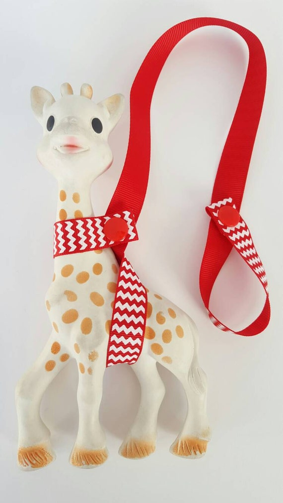 Handmade sophie saver - ribbon strap - baby accessories