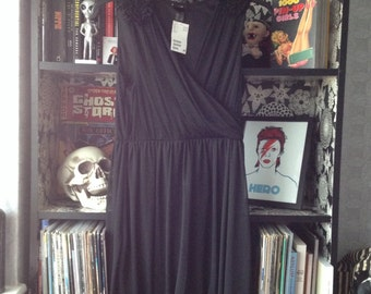 Black gothic H&M dress new with tags size small