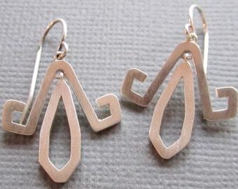 Geometric Sterling earrings