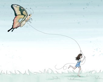 The Girl and the Butterfly Kite