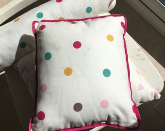 Mini spotty cushion