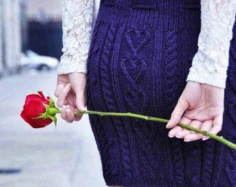 Handmade knitted skirt