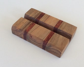 Business card holder, exotic wood, unique gift, desk, office display