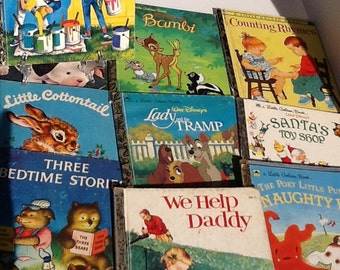 1950's-1970's Set 11 Vintage Golden Books soft and harcovers