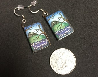 Wuthering Heights Book Earrings