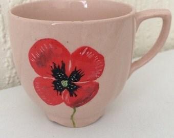 Small poppy teacup