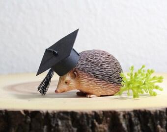 Graduation Party Decoration Hedgehog Party Decorations Cake Topper  Woodland Animals Graduation Gift Animal Party  Animal Cake Topper