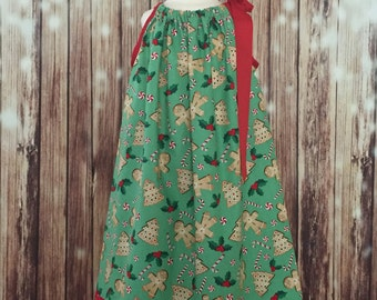 Christmas Pillowcase dress, Christmas dress, Christmas Pillowcase style dress, Pillowcase dress for Christmas