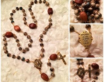 Wood & Earth Rosary