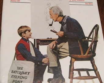 Post Norman Rockwell, Saturday Evening Post Magazine 1971, 1971 Post magazine, Norman Rockwell 1971 Post