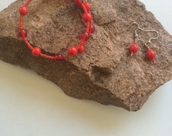 red and coral bracelet