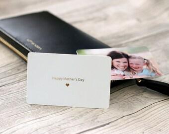 Personalised Photo & Message Plastic Card Keepsake