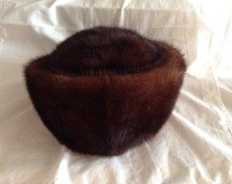 Mink Hat KUBANKA. Vintage Mink Fur Hat