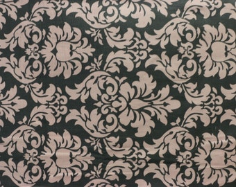 Hard Yard - Michael Miller - Dandy Damask - Gray and Pink - Pattern CX 3095
