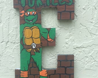 Ninja Turtles Painted Letters