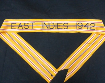WWII Battle Campaign Standard Streamer Flag for the Battle of East Indies 1942