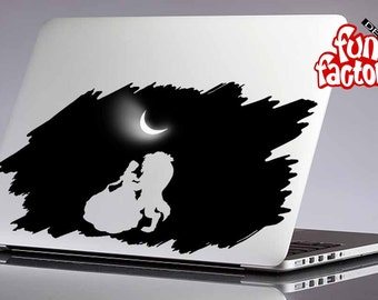 Beauty And The Beast Dancing On The Moonlight Macbook Air Pro Decal Sticker