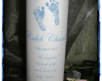 Personalised In Loving Memory Baby Candle