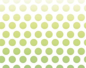 Polka Dots Lime Green Fabric - Quilting Cotton Printed Fabric - White and Green Polka Dots Fabric - Quilt Cotton Curtain Fabric