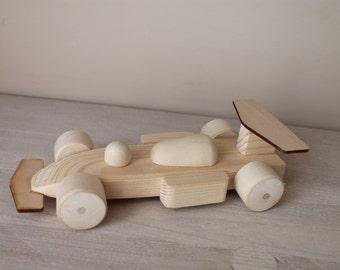 Wooden Toy Car / Formula 1
