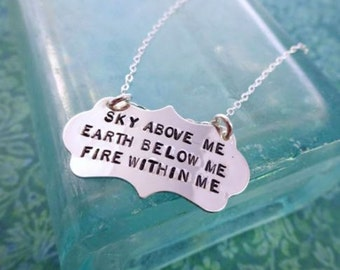 Fire and Sky Necklace