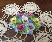 Capodimonte china / Vintage capodimonte porcelain / Antique ornament / capodimonte flower / Anniversary gift