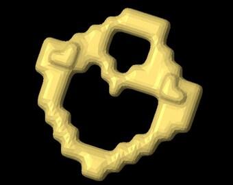 3D Printable Block Heart pendant/charm file.