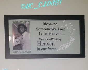 """16""""x8"""" Float Frame Quote with Picture"""