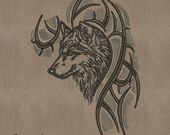 MACHINE EMBROIDERY DESIGN - Tribal_wolf