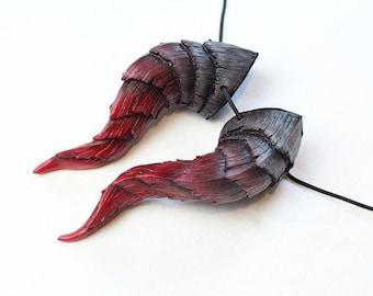 Custom color-Demon Horns - Handmade