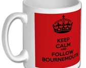 AFC BOURNEMOUTH MUG- Keep Calm And Follow Bournemouth - Keep Calm Mug, Bournemouth Football Club Gift, Gift for Dad, brother, son, uncle