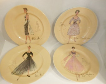 Rosanna Plates(set of 4)French Fashion Plates/Chic/French Couture