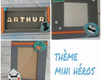"Decoration of room boy theme ""mini heros"""