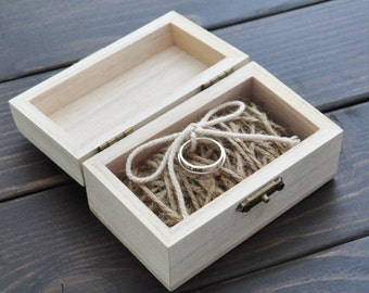 Personalized Wooden Ring Bearer Box