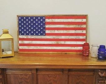 RedWhiteBlue American Flag- MEDIUM (19.5x37in)