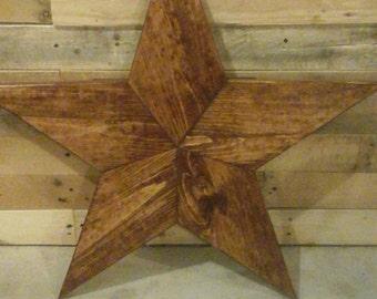 Decorative wood star