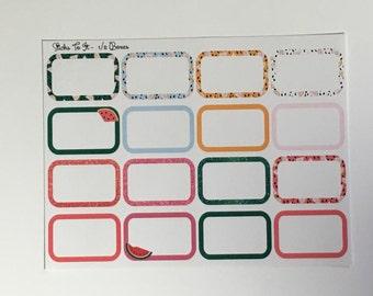 Summer Melon Build Your Own Kit Half Boxes Erin Condren Stickers ECLP Mambi Inkwell Press Filofax Kikki K Happy Life Watermellon Glitter