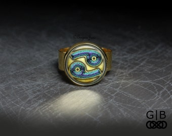 ON SALE Cancer Astrology Ring - Cancer Zodiac Ring Astrology Jewelry - Cancer Astrology Ring Jewelry - Cancer Zodiac Jewelry Ring - Cancer A