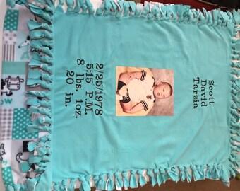 Baby Photo Blanket- Custom Two-sided