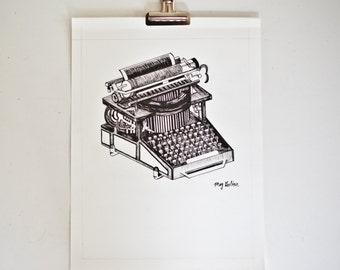 The Typewriter Artwork