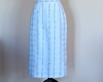 70's Pencil Skirt High Waisted Kick pleat Fully lined side pockets