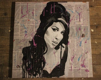 Amy Winehouse painting on canvas
