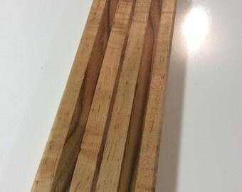 Custom cutting/serving board. Curly maple &black walnut