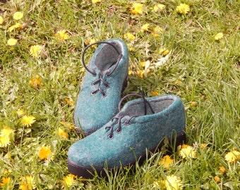 Eco wool shoes,Shoes,Women shoes,Felt,Wool felted boots, Wool shoes, Felted boots, Outdoor boots / Indoor boots,  handmade shoes,women boots