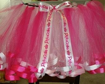 pink & white tutu LG 12/14