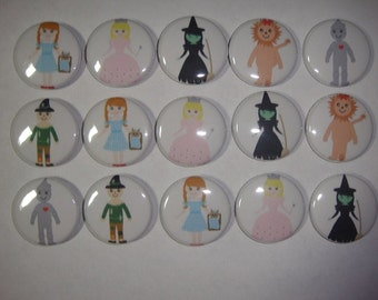 Wizard of Oz Buttons Set of 15