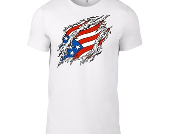 Ripped Patriot Shirt - American Flag, 4th of July, Patriotic